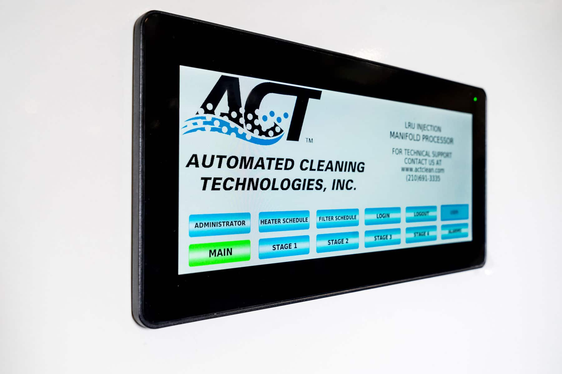 ACT Smart Clean System HMI